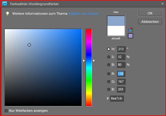 """Farbpalette für die Auswahl des richtigen """"Himmelblau"""""""